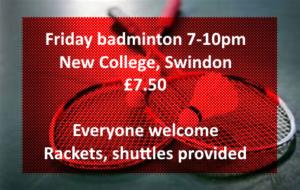Friday badminton